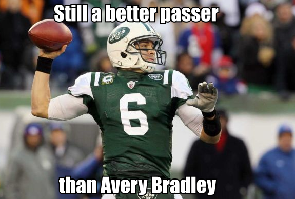 Make that FIVE hilariously awful passes for Bradley this series