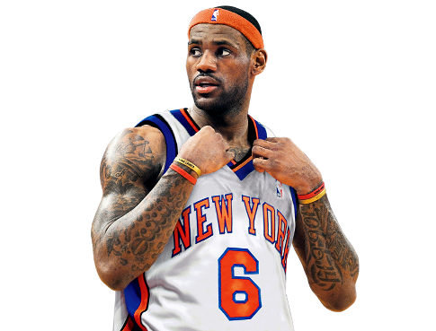 91c744742af LeBron considering the Knicks  ESPN reports Superstar is thinking about  joining Carmelo in 2015